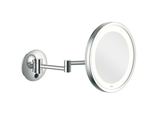 Aliseo LED City Light Miroir grossissant 25x25x40cm laiton/acier Chrome brillant SW203678