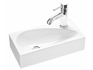 Cross Tone Up 1 Lave mains 40x20x10cm solid surface blanc SW49009