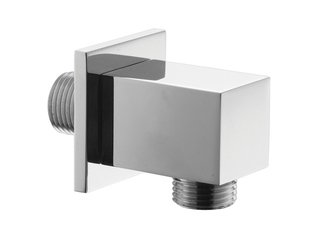 Crosswater Square Coude mural chrome SW24727