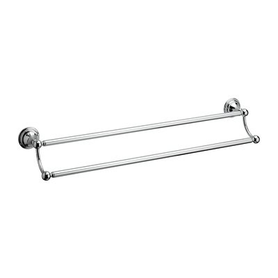 Crosswater Belgravia Porte serviettes double 60cm chrome