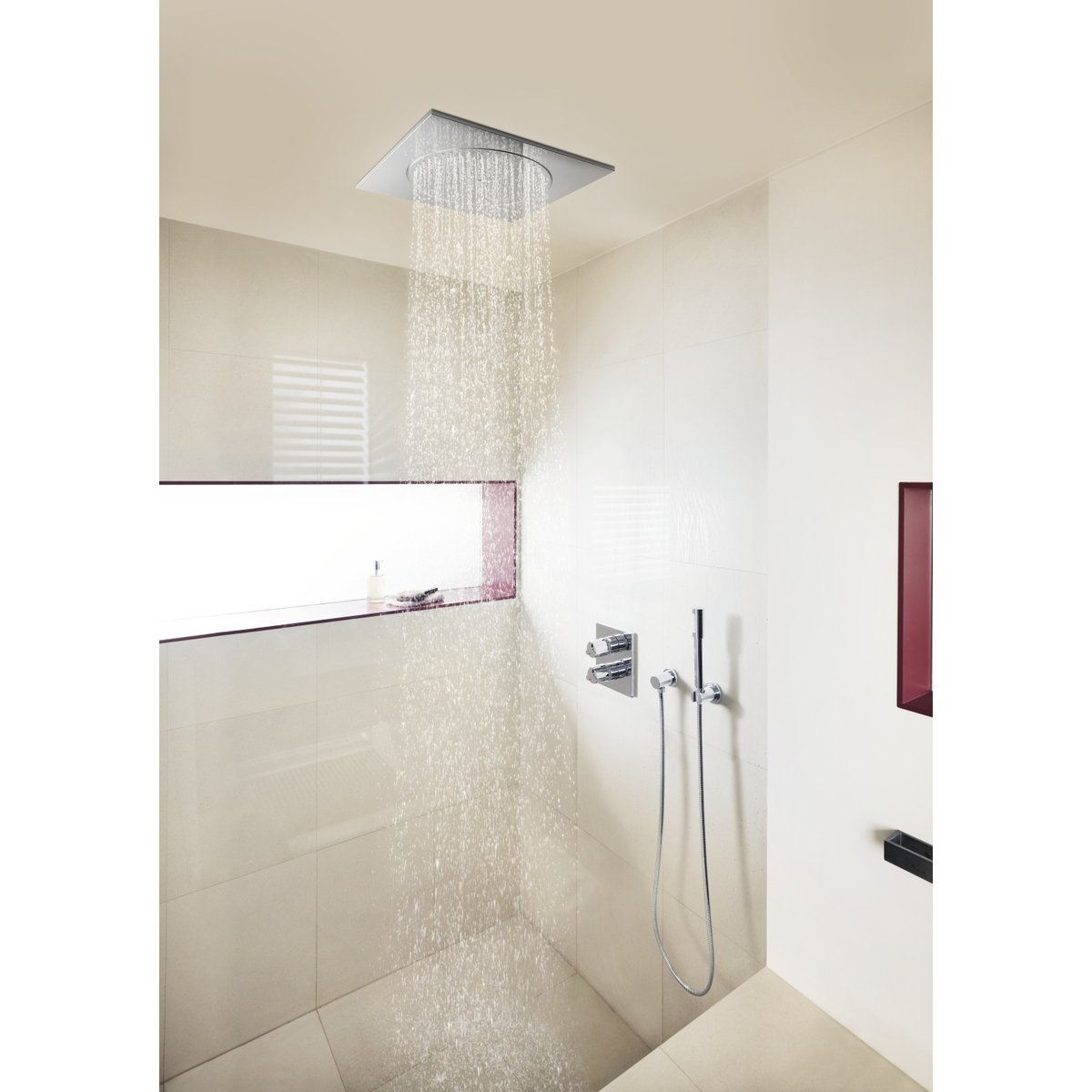 grohe rainshower plafonddouche rainshower f 25 4x25 4cm aansluiting 1 2 chroom 27467000. Black Bedroom Furniture Sets. Home Design Ideas