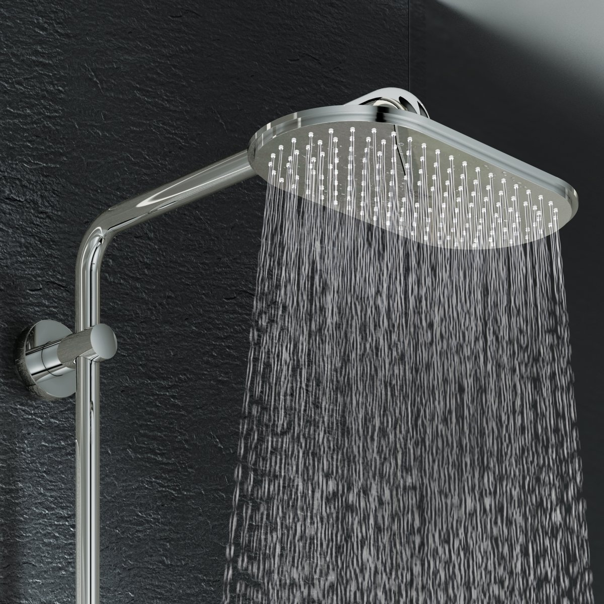 grohe rainshower showerset met douchethermostaat met. Black Bedroom Furniture Sets. Home Design Ideas