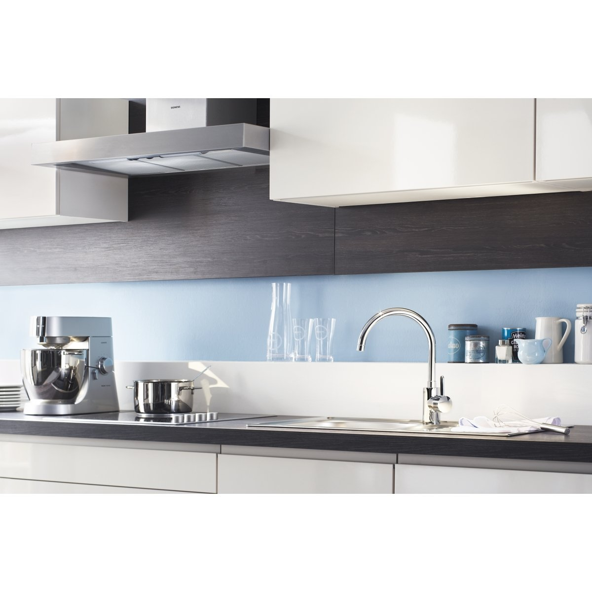 grohe eurosmart cosmopolitan robinet de cuisine eco avec bec haut tournant chrome 3284300e. Black Bedroom Furniture Sets. Home Design Ideas