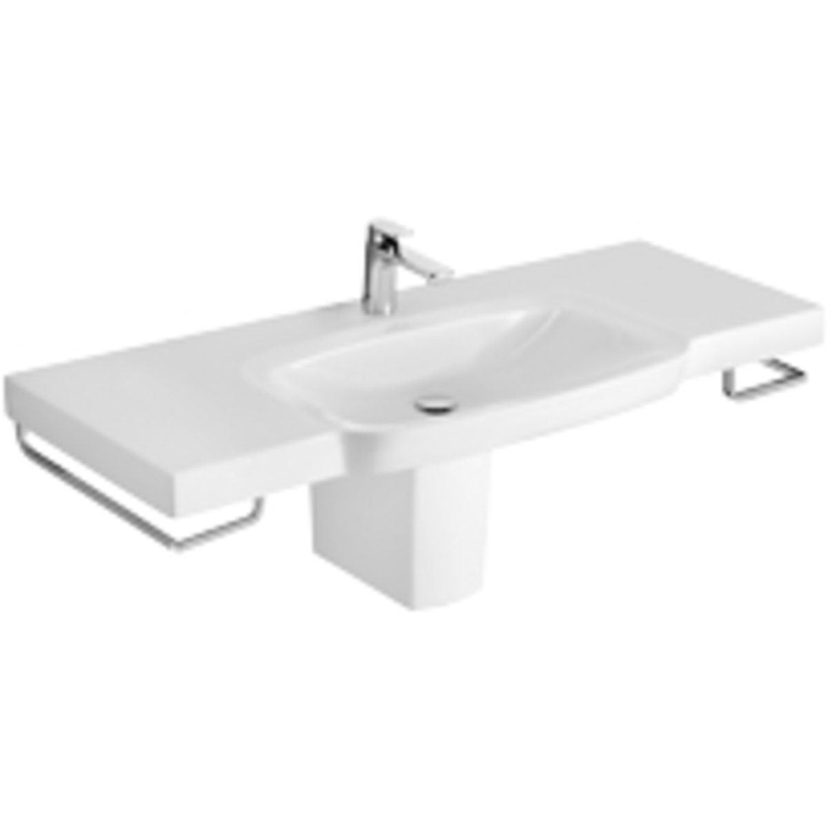 villeroy boch sentique subway 2 0 cache siphon pour lavabo avec set d 39 installation blanc. Black Bedroom Furniture Sets. Home Design Ideas