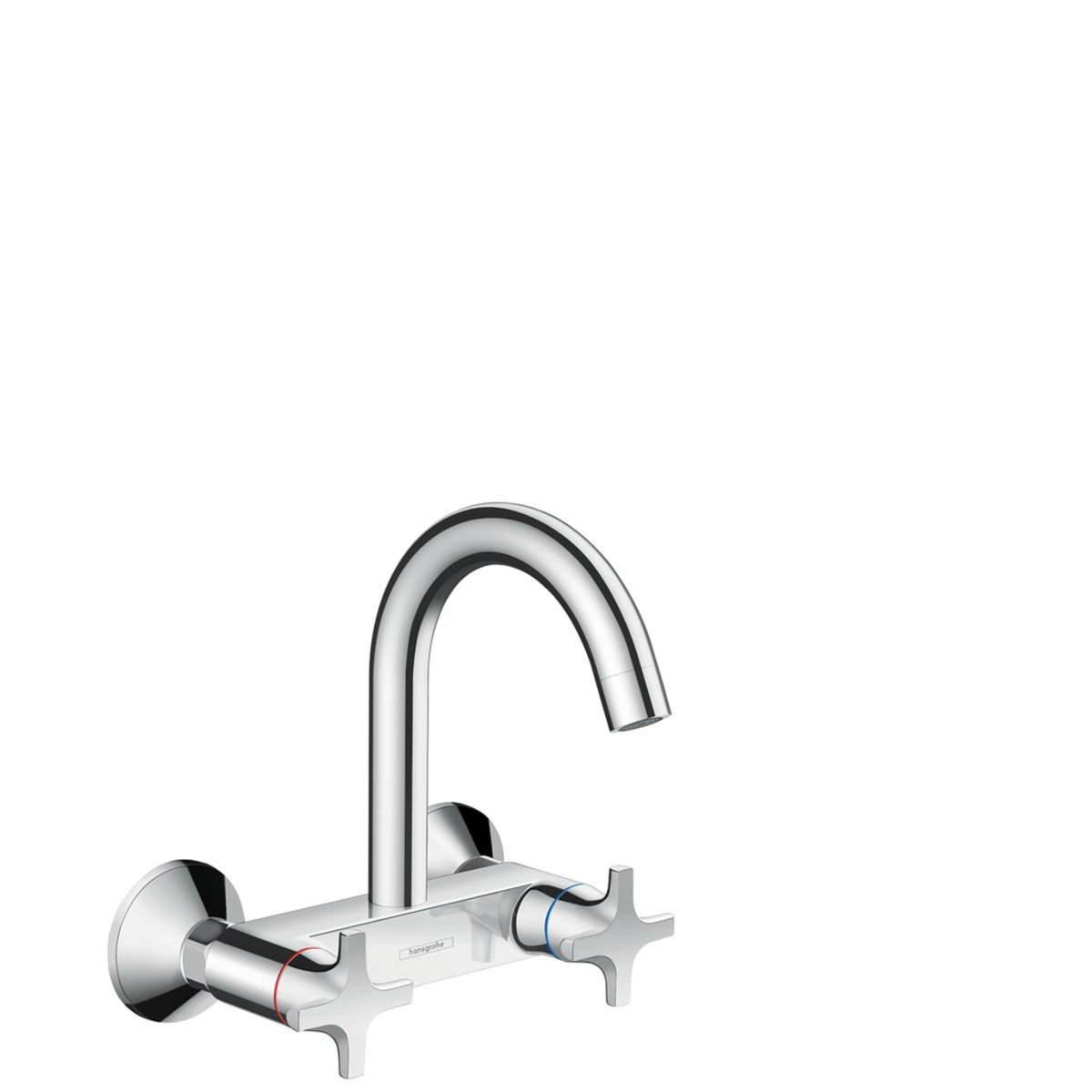 hansgrohe logis classic robinet de cuisine mural avec bec rehauss chrome 71286000. Black Bedroom Furniture Sets. Home Design Ideas