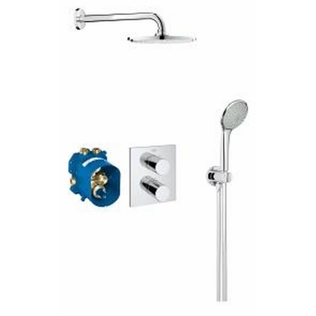 Grohe grohtherm 3000 cosmopolitan perfect shower set for Grohe cosmopolitan 1000 thermostat
