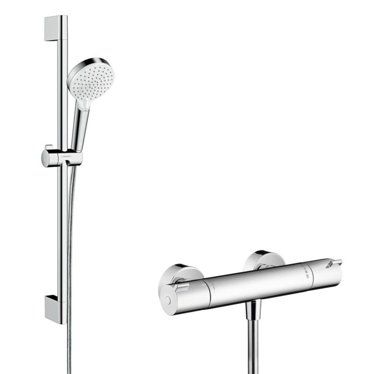 hansgrohe ecostat 1001cl thermostaat met stang 65cm m. Black Bedroom Furniture Sets. Home Design Ideas