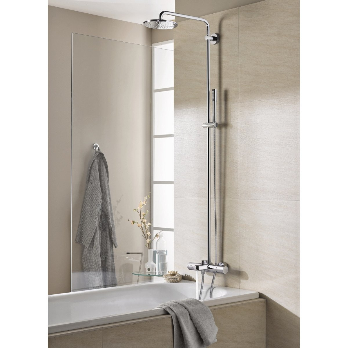 grohe rainshower colonne de douche avec robinet. Black Bedroom Furniture Sets. Home Design Ideas