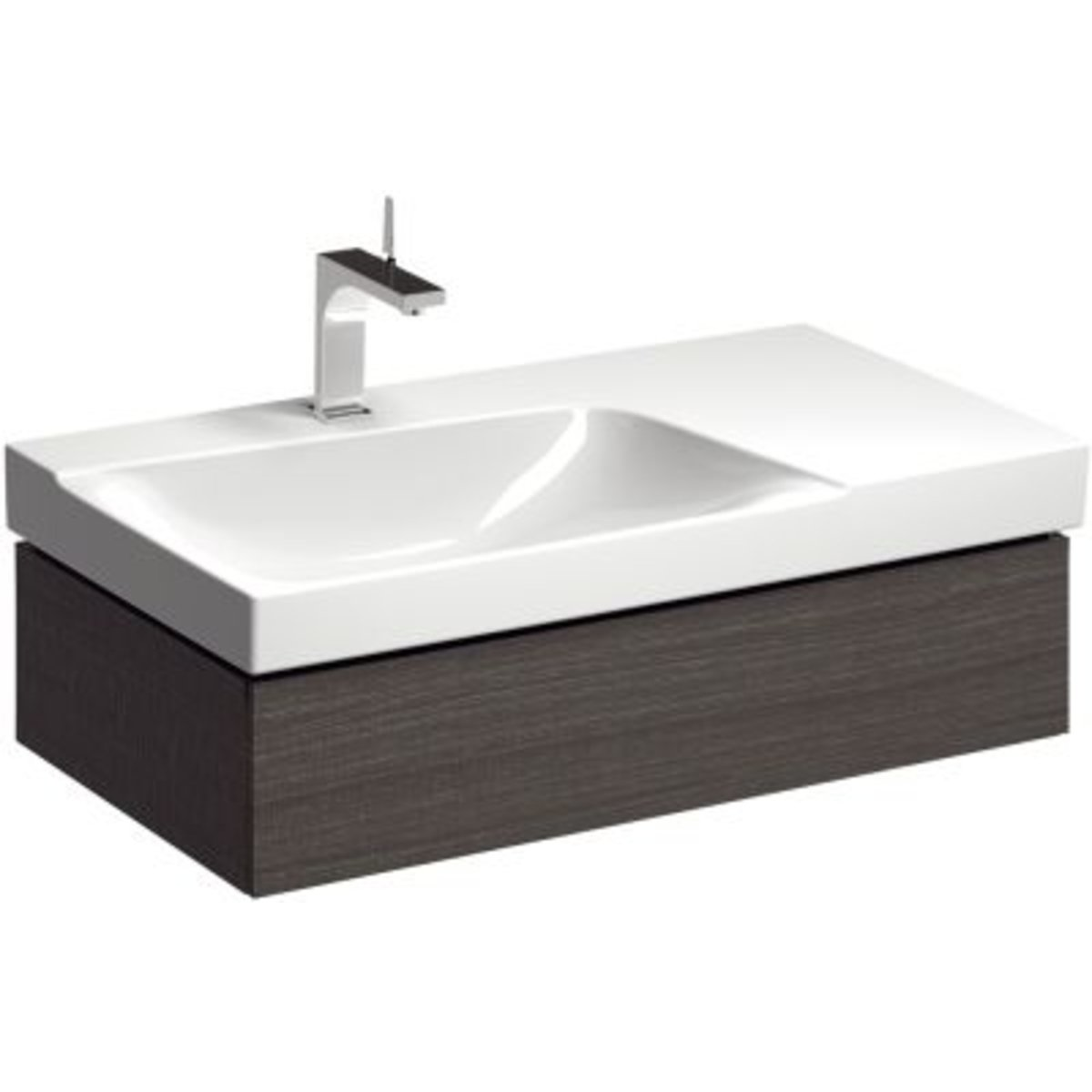 sphinx serie 420 new meuble lavabo pour lavabo gauche 90cm avec 1 tiroir gris s8m13081560. Black Bedroom Furniture Sets. Home Design Ideas