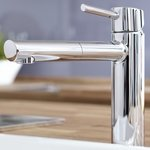 grohe concetto mitigeur de cuisine avec bec medium extractible chrome