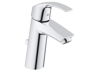 Grohe Eurosmart wastafelkraan medium met waste chroom 0437810