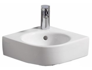 Sphinx Serie 320 XS Lave mains d'angle 45x39.5cm blanc