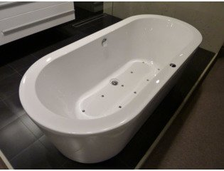Royal Plaza Zelo2 Baignoire Balnéo complet 180x80cm injection d'air pl10 blanc GA85000