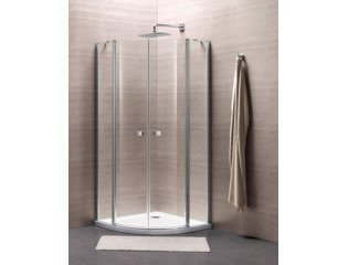 Royal Plaza Clever douchecabine kwartrond 90x90x195cm chroom profiel helder glas clean SW64004
