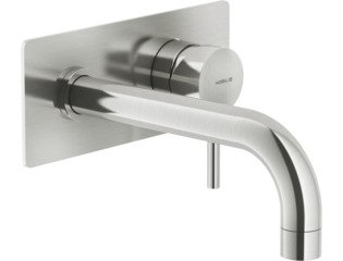 Royal Plaza Seto afdekset wand wastafelkraan uitloop20cmm/achterpl. brushed SW96847