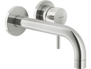Royal Plaza Seto afdekset wand wastafelkraan uitloop20cmm/rosetten brushed SW96655