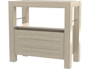 Wavedesign San remo wastafelonderkast 90x45cm white wash SW98572