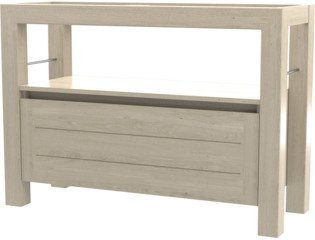 Wavedesign San remo wastafelonderkast 120x45cm white wash SW98564
