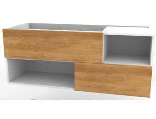 Wavedesign Open frontset voor wastafelonderkast naturel oak SW98502
