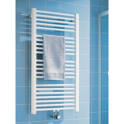 Kermi Basic 50 radiator 1448x450 mm as onderzijde 640w glans zilver