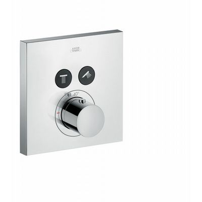 AXOR Showerselect square afdekset thermostaat met stopkraan voor 2 functies chroom