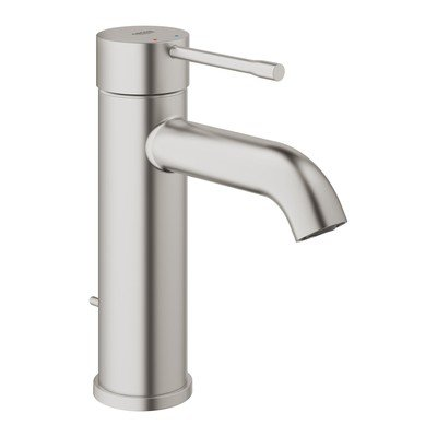Grohe Essence new s size wastafelkraan met waste supersteel