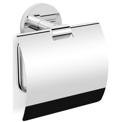 Royal Plaza Salix closetrolhouder met klep chroom