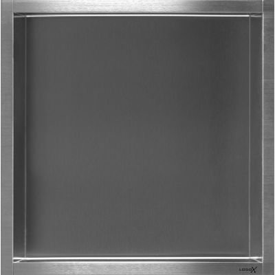 Looox box niche encastrable 30x30x7 cm inox box