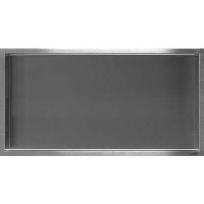 Looox Box niche encastrable 60x30x7 cm inox box L