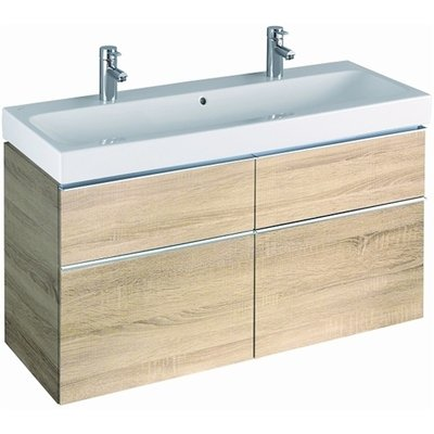 Sphinx 345 wastafelonderbouwkast met 4 laden 119x62x47.7cm eiken naturel OUTLET