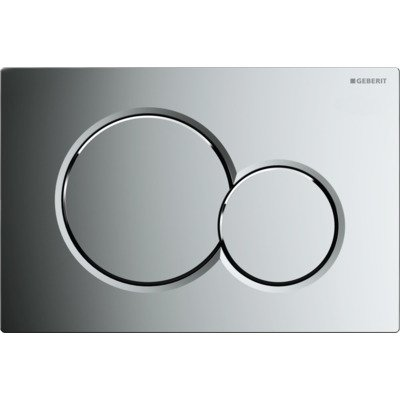 Geberit Sigma 01 Plaque de commande finition chrome brillant
