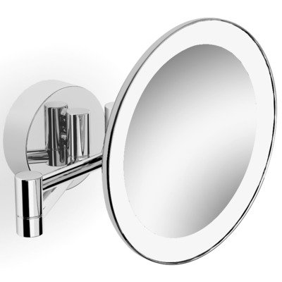 Royal Plaza Plena Miroir grossissant mural 2 bras éclairage LED interrupteur 3x20cm chrome