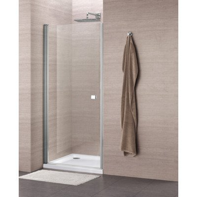 Royal Plaza Clever Porte pivotante 90x195cm profilé chrome et verre clair Clean Coating