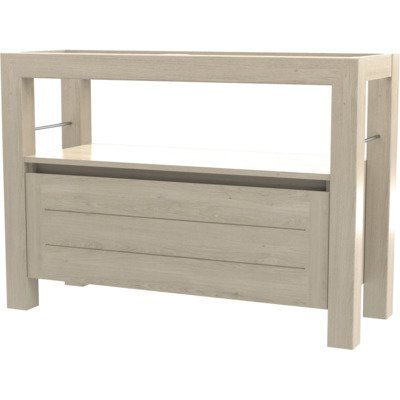Wavedesign San remo wastafelonderkast 120x45cm white wash