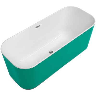 Villeroy & boch Finion vrijstaand bad 170x70 push-to-open+ring colour wit-chroom