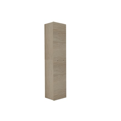 Royal plaza Merlot hoge kast v/greep 1 deur 169x35 eiken