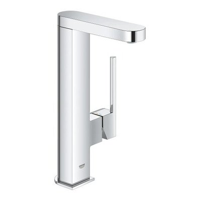 Grohe Plus 1-gats wastafelkraan L-size met gladde body en push open waste chroom