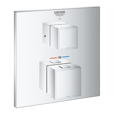 Grohe Grohtherm cube afdekset thermostaat zonder omstel chroom chroom