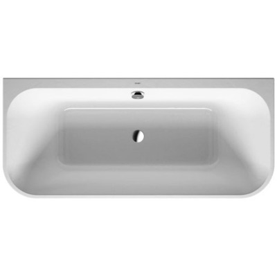Duravit Happy d.2 bad back-to-wall m/paneel 180x80 wit-mat antraciet wit mat antraciet