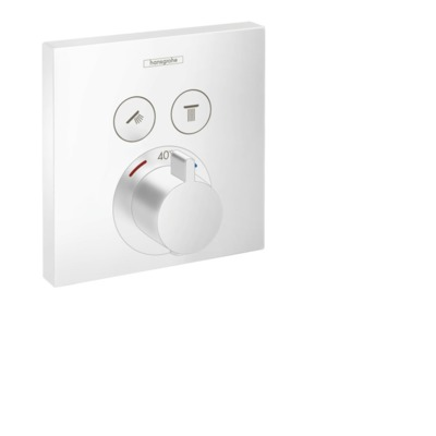 Hansgrohe Showerselect afdekset thermostaat 2 functies mat wit mat wit