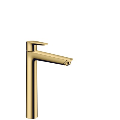 Hansgrohe Talis e wastafelkraan met clickwaste polished gold optic polished gold optic