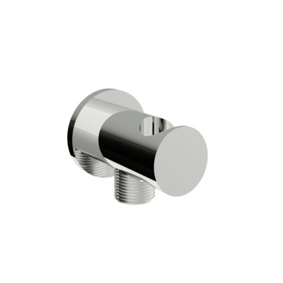 vtwonen Solid Coude mural avec support Chrome