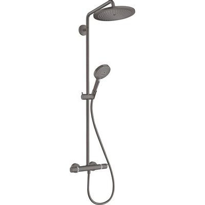 Hansgrohe Croma select s showerpipe 28cm met thermostaat brushed black chrome