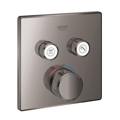 Grohe Grohtherm smartcontrol afdekset thermostaat 2 functies hard graphite