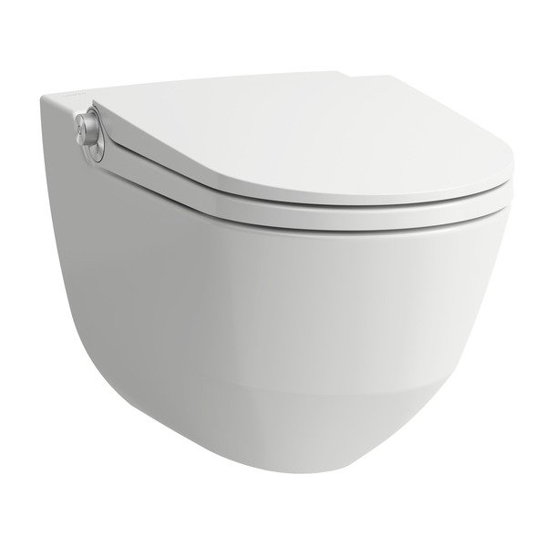 Laufen Riva cleanet wandcloset douche wc met softclose en lcc coating wit h8206914000001
