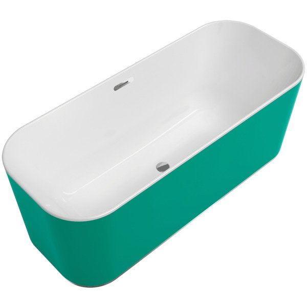 Villeroy & boch Finion vrijstaand bad 170x70 push-to-open+ring colour wit-chroom SW108627