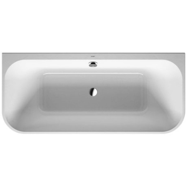 Duravit Happy d.2 bad back-to-wall m/paneel 180x80 wit-mat antraciet wit mat antraciet 7004518000000