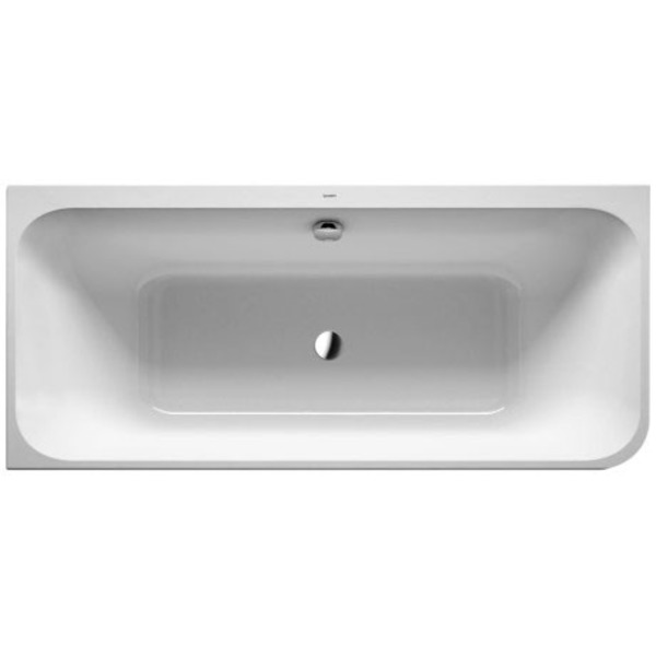 Duravit Happy d.2 bad hoek links m/paneel 180x80cm wit-mat antraciet wit mat antraciet 7004498000000