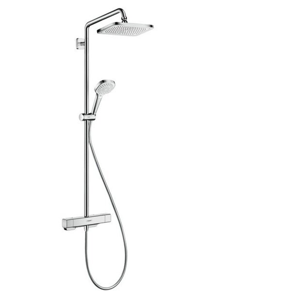 Hansgrohe Croma select e 1jet showerpipe chroom 27630000