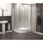aqualux shine kwartrond 80x80x185cm chroom outlet